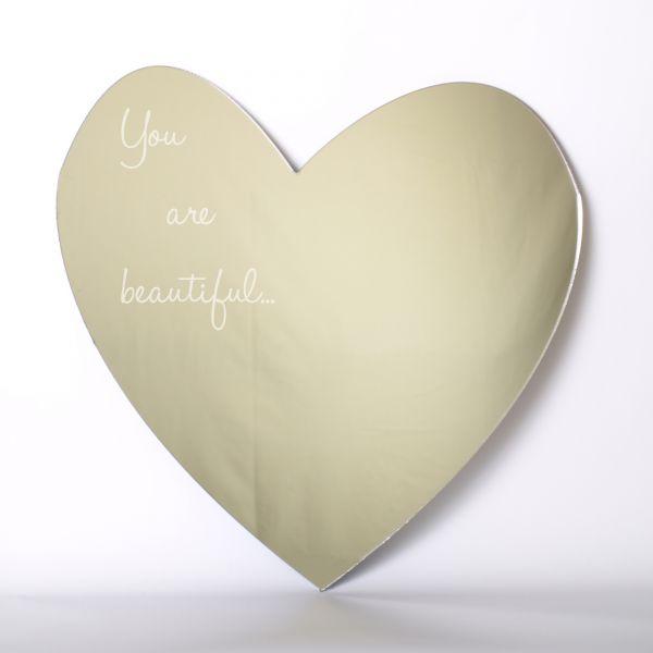 You Are Beautiful Heart Mirror Mungai Mirrors
