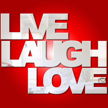 Live, laugh, love mirror (separate words)