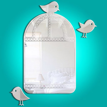 Birdcage mirror (etched detail)