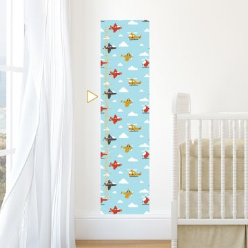 Aeroplanes and Clouds height chart wall sticker