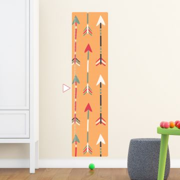 Arrows height chart wall sticker