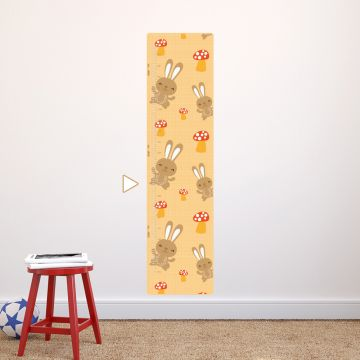 Bunny height chart wall sticker