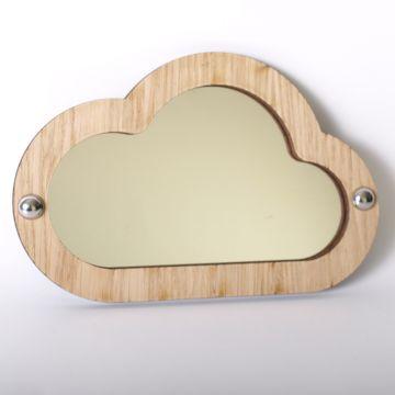 Cloud mirror (wood frame)