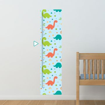 Dinosaurs height chart wall sticker