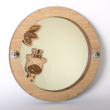 Giraffe mirror (wood frame)
