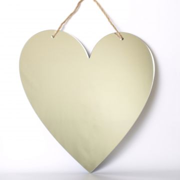 Heart shaped mirror with twine