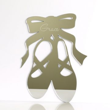 Personalised Ballet Shoes Mirror