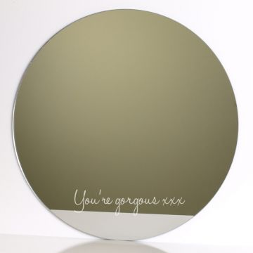Personalised Circle Mirror