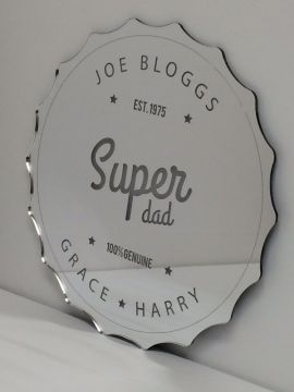 Personalised Father's Day Mirror