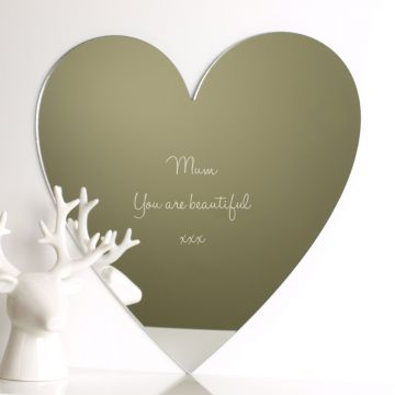 Personalised Heart Acrylic Mirror