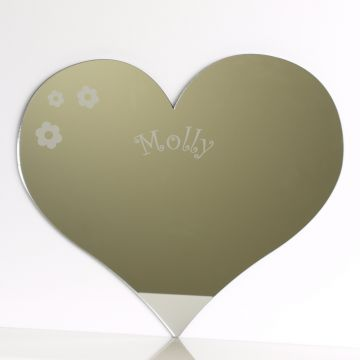 Personalised Love Heart Mirror