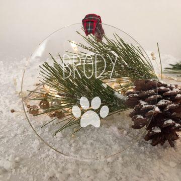 Personalised pet Christmas tree decoration