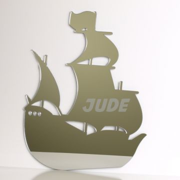 Personalised Pirate Ship Mirror