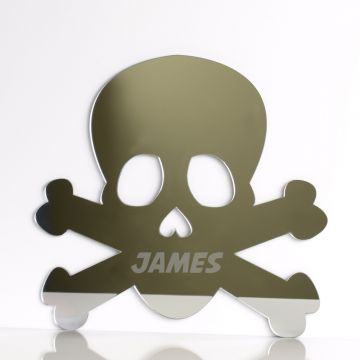 Personalised Skull Mirror