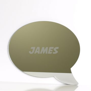 Personalised Speech Bubble Mirror