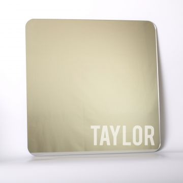 Personalised square mirror