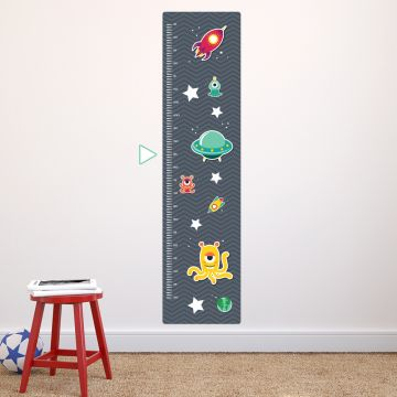 Space height chart wall sticker