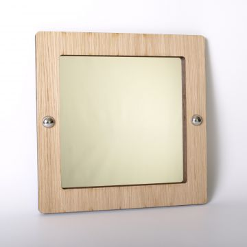 Square mirror (wood frame)