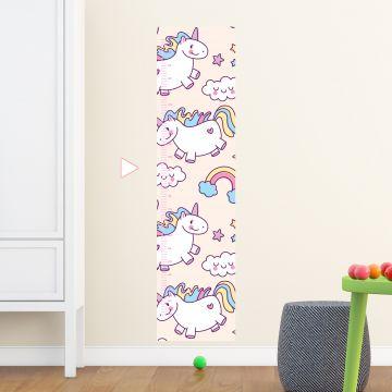 Unicorn height chart wall sticker