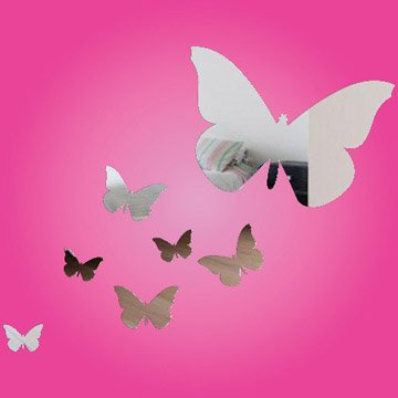 Butterfly Wall Mirrors  (set of 7)