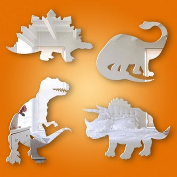 Dinosaur Themed Mirror Pack