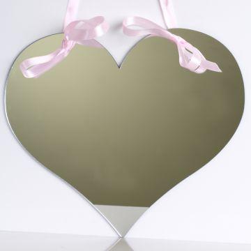 Love Heart Mirror with ribbon