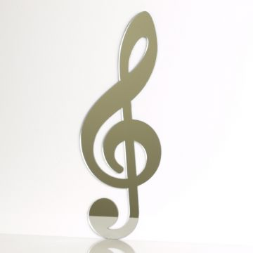 Musical Note Mirror - Treble Clef