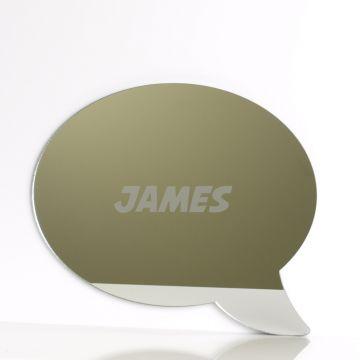 Personalised Speech Bubble Mirror
