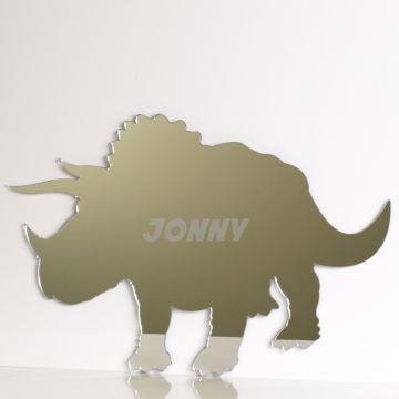 Personalised Triceratops Dinosaur Mirror