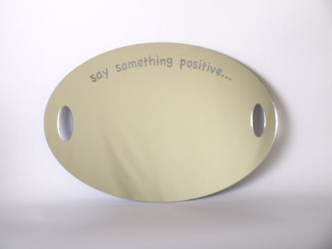 Say something positive acrylic mirror