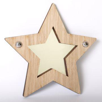 Star mirror (wood frame)