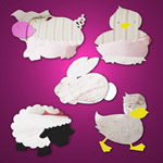 Farmyard Animal Themed Mirror Pack