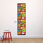 Comic height chart wall sticker