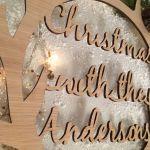 Personalised christmas wreath