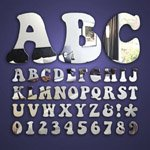 Alphabet Letter & Number (10cm) Mirrors (keep on truckin')